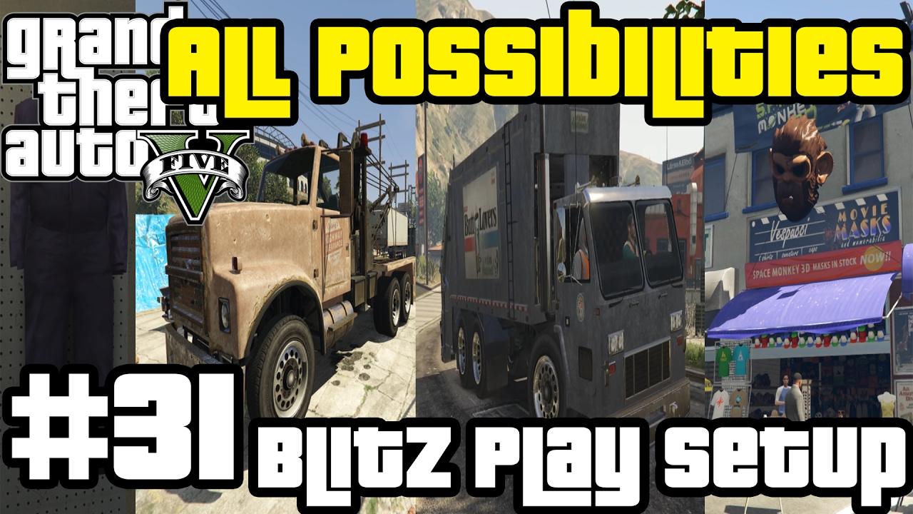GTA V - Blitz Play setup missions (All Possibilities)