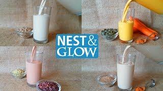 Seed Milk 4 Ways Recipes - Dairy-free, Nut-free and Vegan