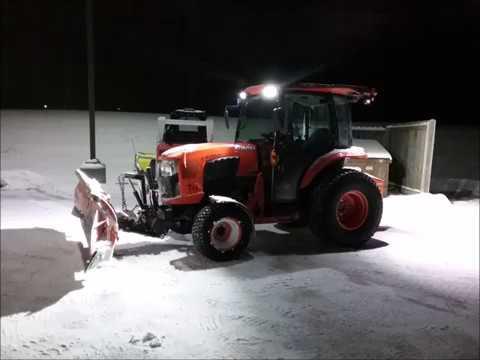 L Kubota Plowing Snow
