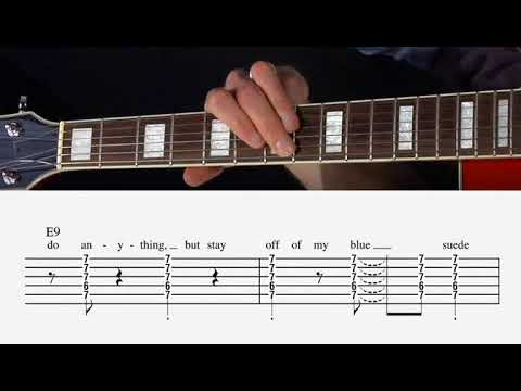 Blue Suede Shoes - Guitar Lesson - Chords - YouTube