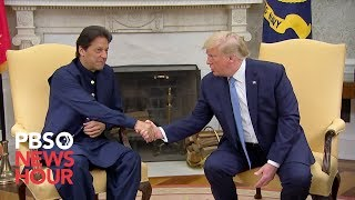 WATCH Trump Meets With Pakistani Prime Minister  Mran Khan