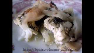 Рыба, запеченная в духовке в яблоках
