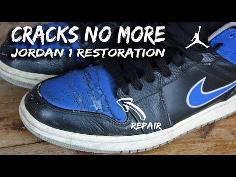 HOW TO FIX AND REPAIR SHOE CRACKS JORDAN 1 (TUTORIAL)