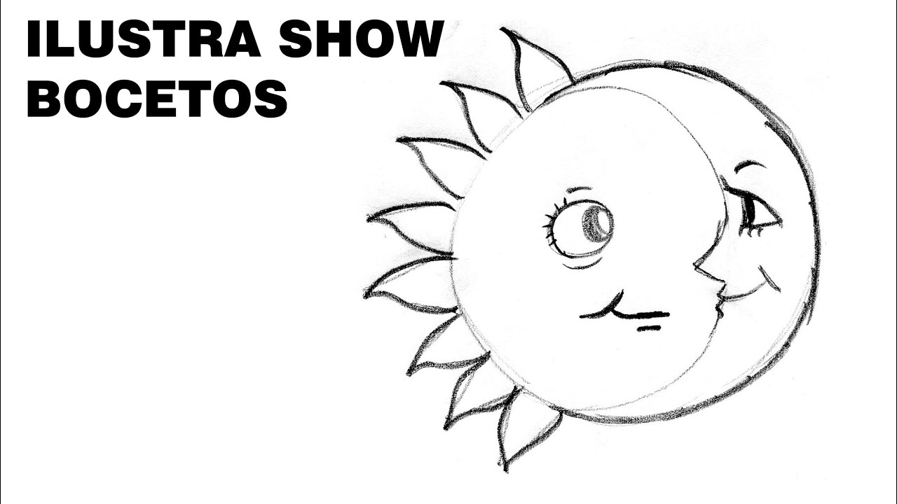 C mo dibujar un eclipse sencillo tutorial ilustra show for Imagenes de un estanque para colorear