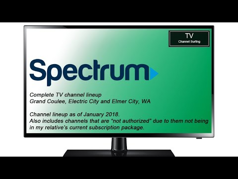 TV Channel Lineup: Charter Spectrum, Grand Coulee, WA (January 2018)