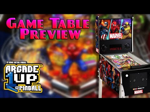 Arcade1Up Marvel Pinball Game Table Preview from COOLTOY
