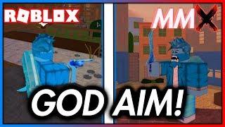 COMMENT À GET 'GOD' AIM IN ROBLOX MMX! (Travaux!)