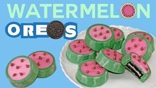 Watermelon OREO Cookies How to No-Bake Summer Snacks | My Cupcake Addiction