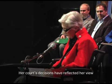 Iona Campagnolo Lecture 2015  - The Right Hon Beverley McLachlin