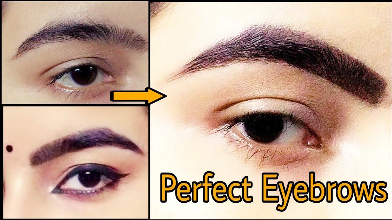 Perfect Eyebrows Tutorial || Easy Eyebrows Tutorial For ...