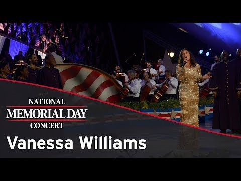 Vanessa Williams performing on the 2017 National Memorial Day Concert