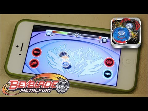 Beyblade Battles Game GAMEPLAY & REVIEW! - Beyblade Metal Fury Hasbro App