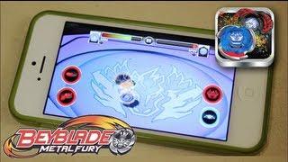 Beyblade Battles Game GAMEPLAY & REVIEW! - Beyblade Metal Fury Hasbro App
