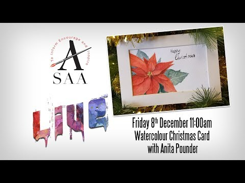 SAA LIVE - Christmas Card in Watercolour with Anita Pounder