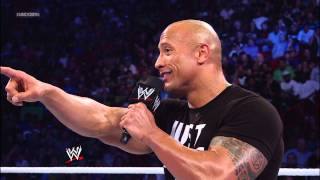 The Rock gets into a battle of wits with Team Rhodes Scholars: SmackDown, Jan. 11, 2013
