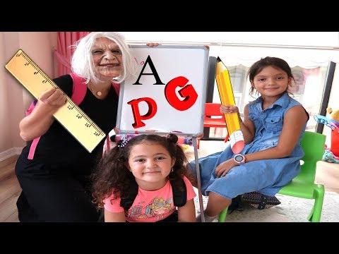 OKULA DÖNÜŞ! Grandma and Elif Öykü First Day Back To School Learning Pretend Play Fun!!!