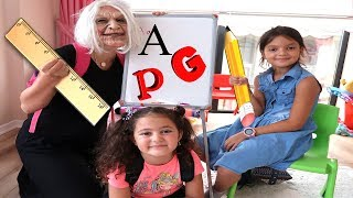 OKULA DÖNÜŞ! Grandma and Elif Öykü First Day Back To School Learning Pretend Play Fun!!!