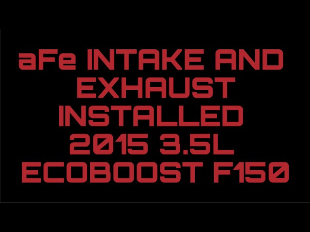 aFe intake and exhaust results Brew City Boost