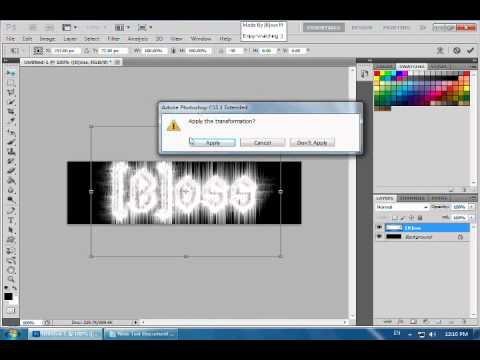 How To Make A Nice Signature Using Photo Shop - YouTube