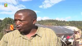 Residents scoop milk after truck overturns on Nyeri-Karatina road