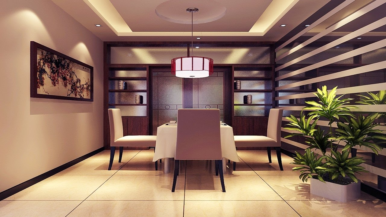 Modern dining room designs 30 simple false ceiling designs for Interior design for hall and dining room