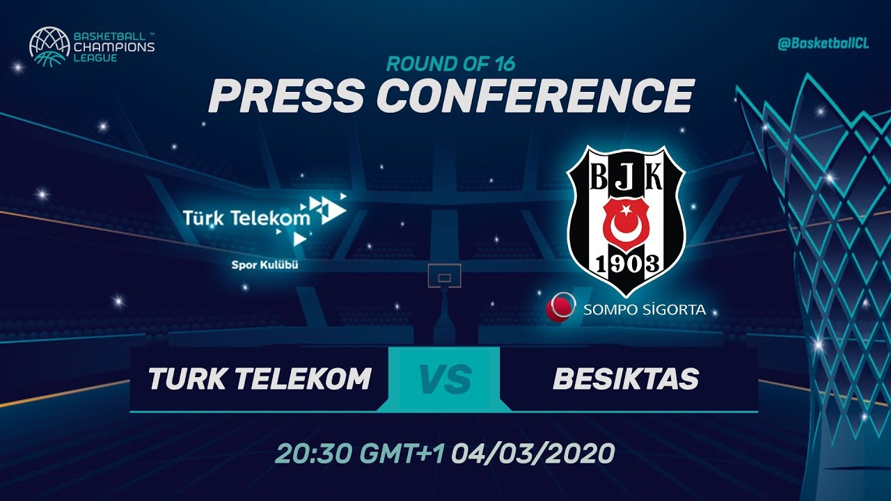 Türk Telekom v Besiktas Sompo Sigorta - Press Conference - Basketball Champions League 2019