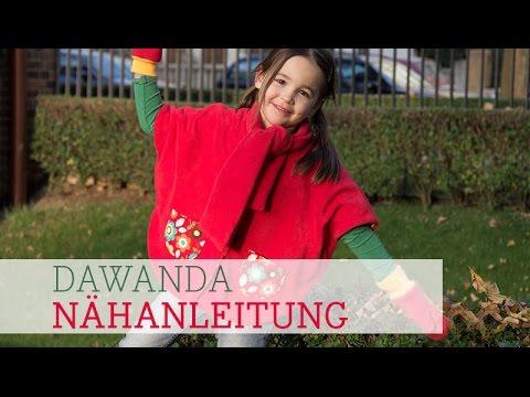 DaWanda Nähanleitung: Poncho für Kinder von pattydoo - YouTube