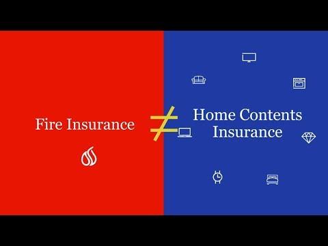 Fire insurance ≠ Home content insurance