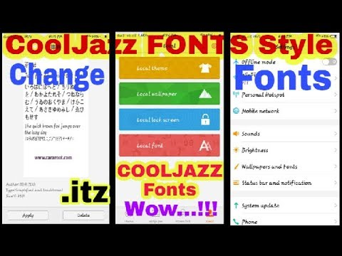 ANDROID Phone FONT STYLES | COOLJAZZ(Samsung) Fonts