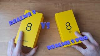 Распаковка и сравнение смартфонов REALME 8 и REALME 8 PRO