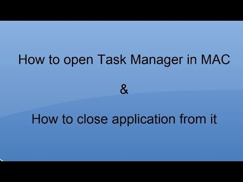 Task Manager In MAC And How To Use It..