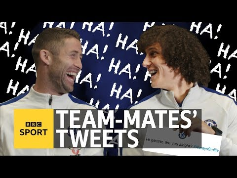 Team-mates' Tweets with Chelsea's Gary Cahill and David Luiz - BBC Sport