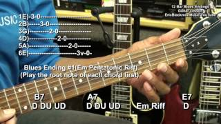 EASY 12 Bar Blues Ending Guitar Lesson #1 EEMusicLIVE