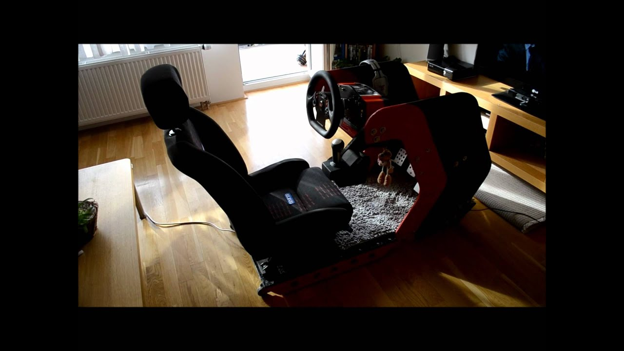 diy sim racing rig youtube. Black Bedroom Furniture Sets. Home Design Ideas