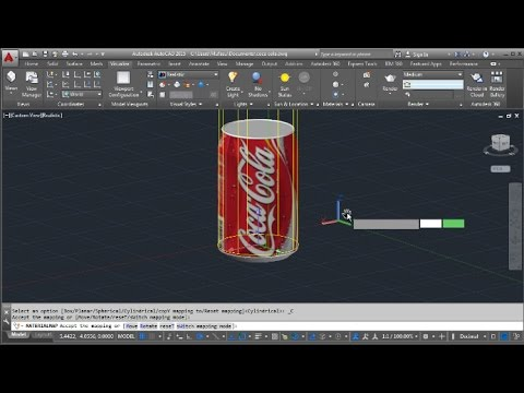 AutoCAD Material Editing With Sylindrical And Spherical Mapping