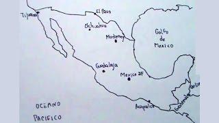 Aprende a dibujar el mapa de México con las ciudad principales