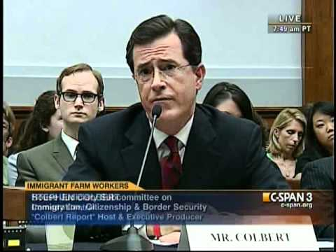 Stephen Colbert Questioned by Rep. Lamar Smith during Congressional Hearing