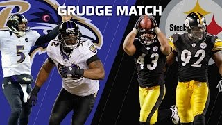 Troy Polamalu Sends Pittsburgh to the Super Bowl | Ravens vs. Steelers | Grudge Match | NFL NOW