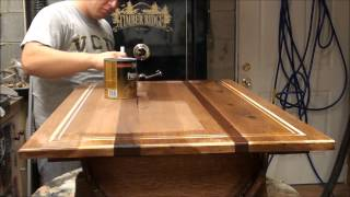 Applying Polyuethane on table
