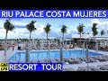 Riu Palace Costa Mujeres All-Inclusive Family Resort Tour In Cancun Mexico - Great Beach, RiuLand