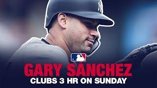 Gary Sanchez goes deep THREE times vs Orioles