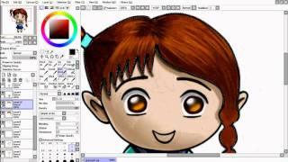 Волосы-урок для Easy Paint Tool SAI