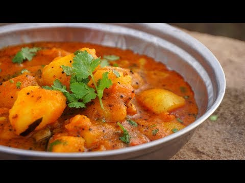 Shaak Bhaat | Delicious INDIAN CURRY With Rice | Traditional INDIAN LUNCH COOKING