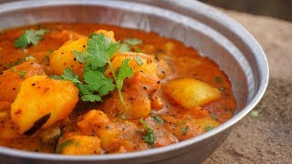 Delicious INDIAN CURRY With Rice Recipe | Traditional INDIAN LUNCH COOKING