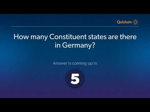How many Constituent states are there in Germany?    Germany Quiz