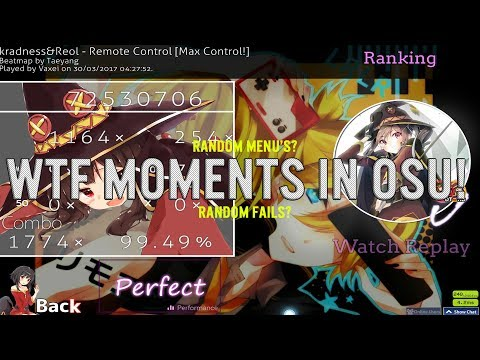 WTF Moments In Osu!