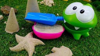 Игры Ам Няма - Ам Ням и морские жители из песка