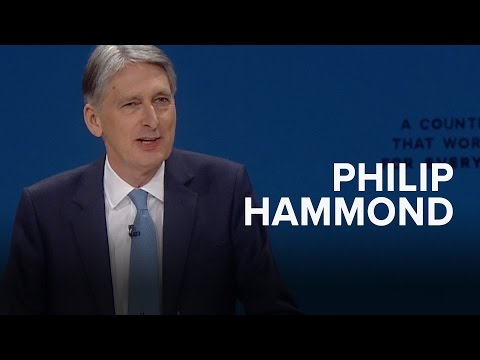 Philip Hammond: Speech to Conservative Party Conference 2016