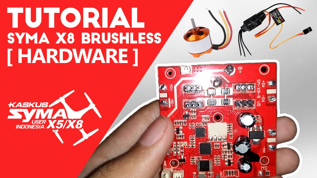 Syma X8 Brushless Conversion Tutorial Part1 Hardware Youtube Diy Make A Circuit Board Fly With This Cute Tiny Quadcopter Kit