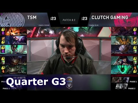 TSM vs Clutch Gaming | Game 3 Quarter Finals S8 NA LCS Spring 2018 | TSM vs CG G3
